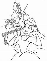 Cinderella Coloring Pages Printable Disney Princess Coloringcolor Filminspector sketch template