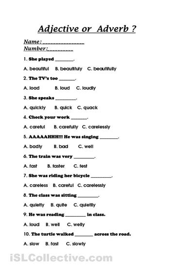 free adverb worksheets high school free best free