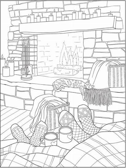 Coloring Pages Warm Adult Printable Dover Publications