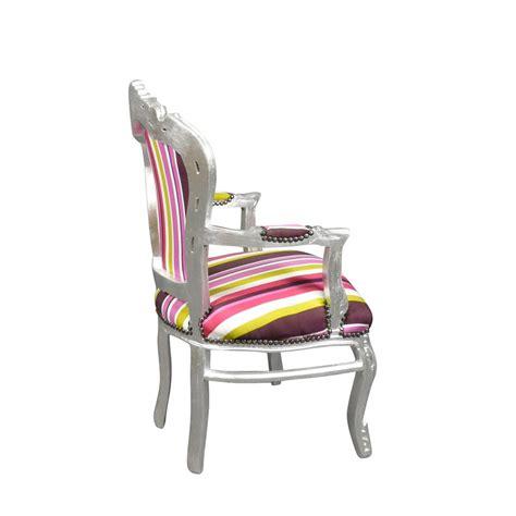 chaise multicolore fauteuil baroque multicolore mobilier déco chaise