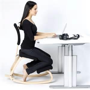 Ergonomic Kneeling Office Chair by Variable Balans Chaise Ergonomique Noir Naturel
