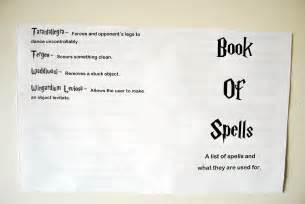 Harry Potter Printable Spell Book Pages
