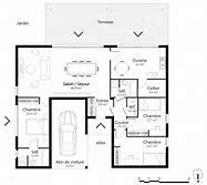 hd wallpapers plans de maison plain pied en u - Plan De Maison Plain Pied En U