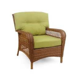 martha stewart living charlottetown brown all weather wicker patio lounge chair with green bean