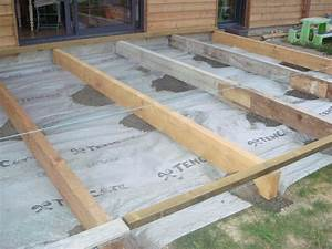 interet plan terrasse bois sur plot beton photos de plan With plan terrasse bois sur plot beton
