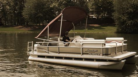 Pontoon Boats Bimini Tops by Pwr Arm Ii Automatic Powered Pontoon Bimini Tops