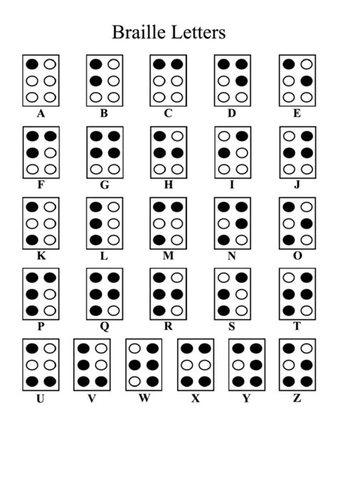 Free Printable Braille Alphabet Chart Template! | Braille
