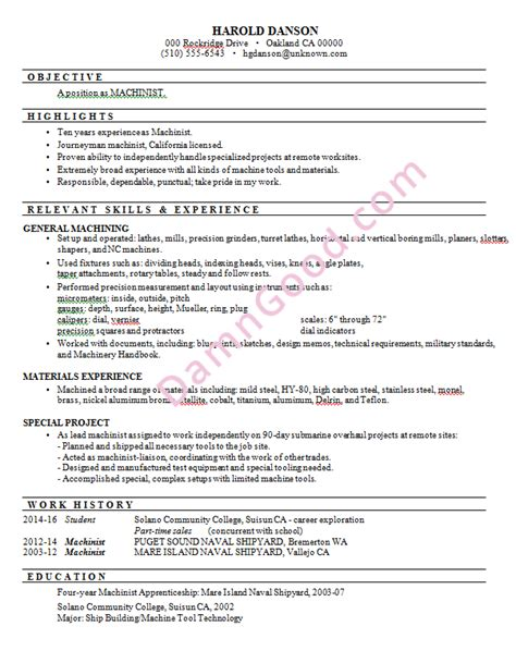 Machinist Sle Resume by Functional Resume Sles Archives Damn Resume Guide