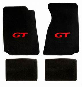 NEW! 1999-2004 Ford Mustang Black Floor mats with GT Logo RED Set of 4 Carpet | eBay