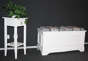 Wäschetruhe Holz Weiß : waschetruhe holz weis lackiert waschekorb ~ Indierocktalk.com Haus und Dekorationen