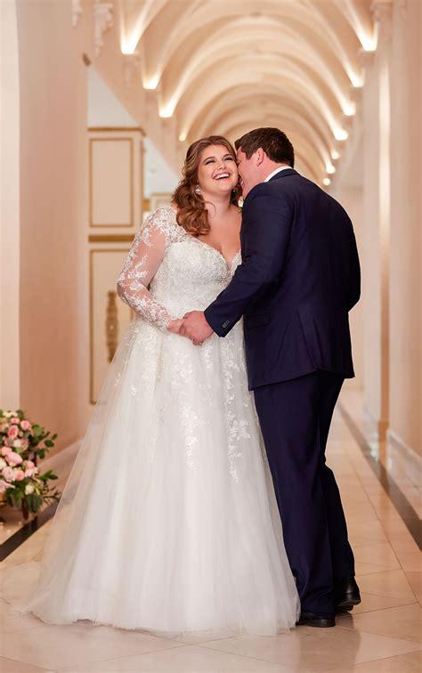 Affordable Romantic Plus Size Wedding Dress Stella York