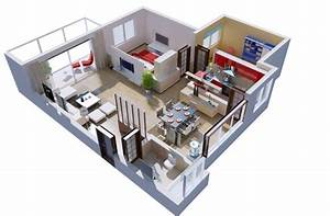 Study room interior design 3D rendering view 3D house
