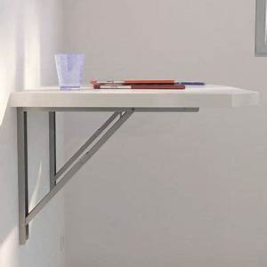 Table Cuisine Murale : plan de travail mural rabattable table de lit ~ Melissatoandfro.com Idées de Décoration