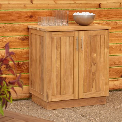outdoor patio storage cabinet 30 quot artois teak outdoor kitchen cabinet outdoor