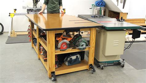 workbench outfeed table upgrades