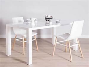 Table A Manger Rectangulaire : table a manger blanche et bois table fer et bois salle manger maisonjoffrois ~ Teatrodelosmanantiales.com Idées de Décoration