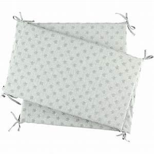 Tour De Lit Gris : tour de lit jersey gris clair de noukies sur allob b ~ Teatrodelosmanantiales.com Idées de Décoration