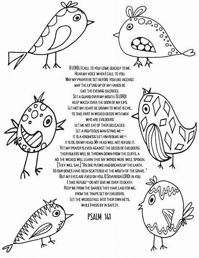 Coloring Pages Psalm Printable Psalms Christian Adulting