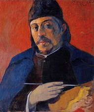 Paul Gauguin Self Portrait with Palette