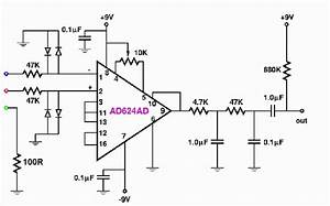 Electrocardiogram ecg circuit diagram for use with for Ecg circuit