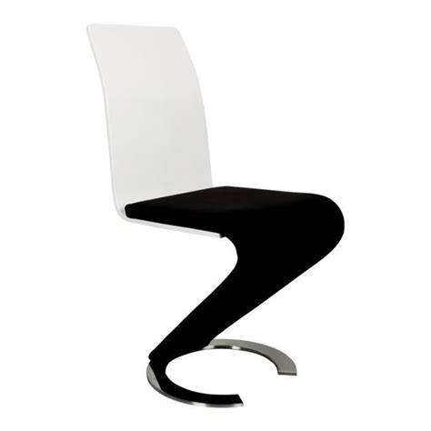 chaise noir design mobilier table chaise design noir et blanc