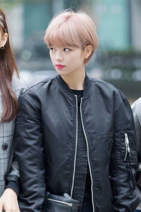 twice jungyeon s short pixie cut kpop korean hair and style