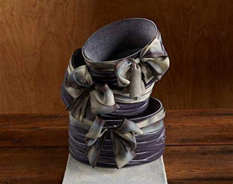 amazoncom velvet basket gray hand dyed silk ribbon bow