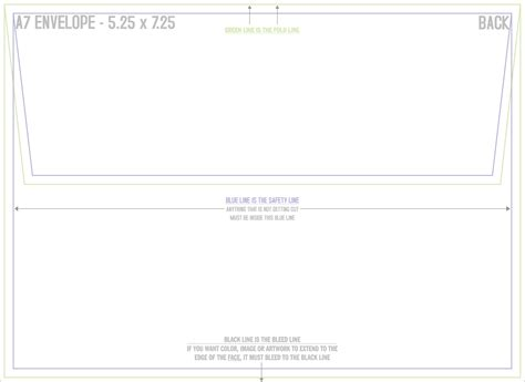 a7 envelope template mcconnell printing 183 a7 envelope