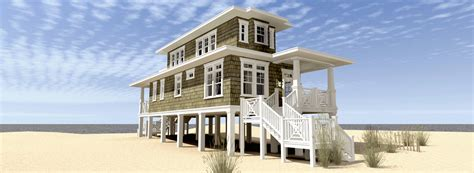 Beach House Plan With Walkout Sundeck