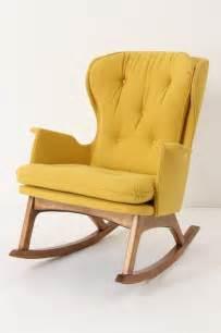 Espresso Rocking Chair Nursery by Finn Rocker Gold Midcentury Rocking Chairs By