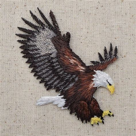 eagle applique iron on embroidered applique patch patriotic american bald