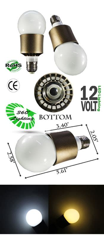 led bulb 12 watt 12 volt e27 ncnrnw low voltage led