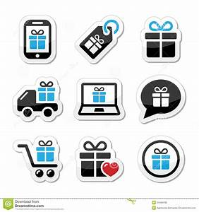 Set Online Shop : present shopping icons set stock photo image 34464760 ~ Orissabook.com Haus und Dekorationen