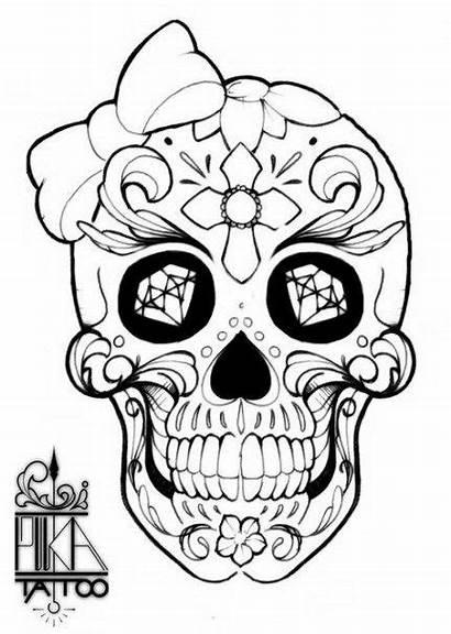 Skull Sugar Coloring Vorlagen Skulls Halloween Frida