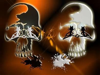 Skull Cat Crown Evil Joker Kittycat Wearing