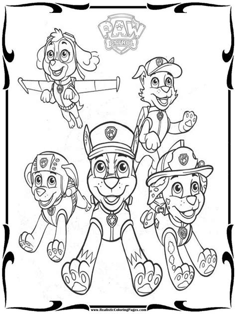 printable paw patrol coloring pages paw patrol coloring pages printable coloring home