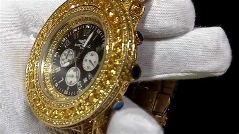 Gold Canary Sim. Diamond Breitling Watch Lab Rick Ross Two