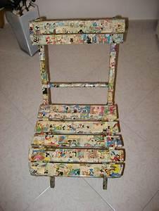 Come decorare una sedia coi fumetti