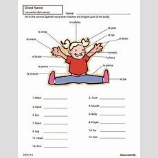 Body Parts In Spanish #spanishworksheets #classroomiq #newteachers  Spanish Worksheets Level