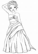 Coloring Topmodel sketch template