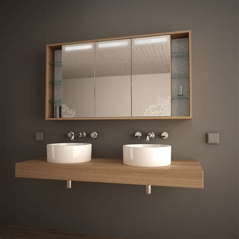 Badezimmer Spiegelschrank Beleuchtung Holz by Badezimmer Spiegelschrank Selber Bauen Oliverbuckram
