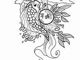 Koi Coloring Fish Drawing Outline Chinese Adults Japanese Printable Tiger Tattoo Template Adult Colouring Pond Realistic Carp Getdrawings Japanesekoigardens Ponds sketch template