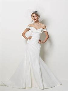 ivory mermaid wedding dress with off the shoulder cap With off the shoulder wedding dress with sleeves