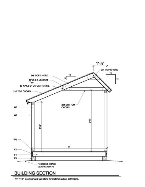 10x20 Saltbox Shed Plans by Shed Plans 201305