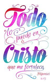 Todo lo puedo en Cristo que me fortalece Vectores y