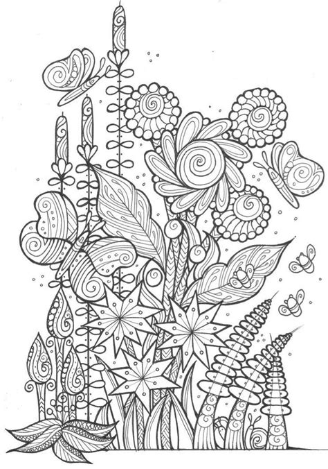 butterflies  bees adult coloring page craft carousel