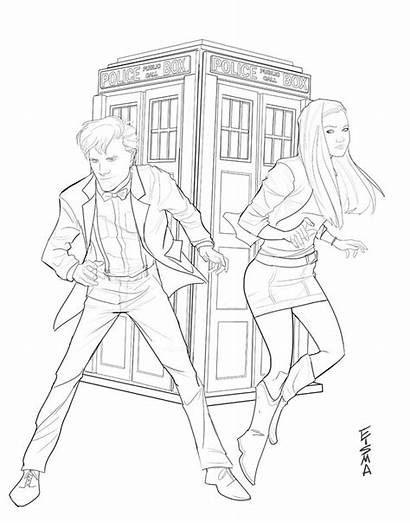 Doctor Coloring Pages Dr Amy Pond Tardis