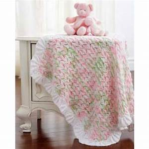 Mary Maxim - Free Lacy Baby Blanket Knit Pattern