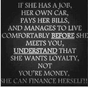 And if she can't finance herself, she does want your money ...