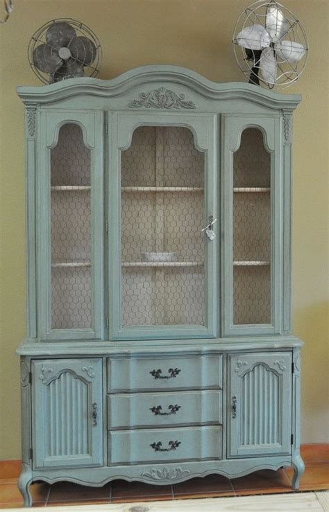french provincial china cabinet custom painted vintage french provincial china cabinet by
